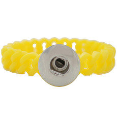 1 snap button bracelet with 12mm width silicone stretch fit 18-20mm snaps