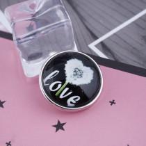 20MM Saint-Valentin Snap Glass C0057 Snaps interchangeables bijoux