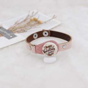20MM Valentine's day Painted enamel metal C5626 print snaps jewelry