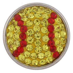 18mm Сахарные защелки Сплав с желтыми стразами KB2439 защелкиваются ювелирные изделия