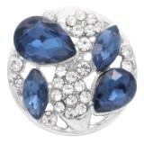 20MM design snap silver Plaqué de strass bleu KC6914 s'encliquette des bijoux