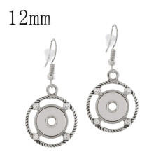snap sliver Earring fit 12MM snaps style jewelry KS1167-S