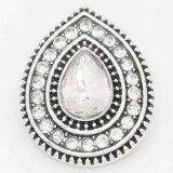 Diseño 20MM chapado en plata con diamantes de imitación blancos KC6719 broches de joyería