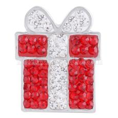 present Christmas snaps button 20mm with rhineston KC4033