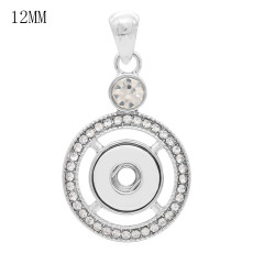 snap sliver Pendant fit 12MM snaps style jewelry KS0370-S