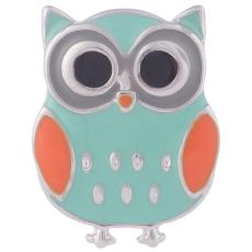 20MM owl snap with  enamel KB7015 snaps jewelry
