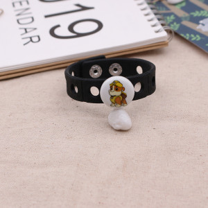 20MM Cartoon Painted enamel metal C5593 CH3 print snaps jewelry