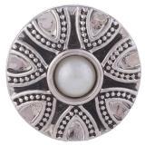 20MM Круглая защелка Античное серебро с покрытием из жемчуга KB5170 защелкивается ювелирные изделия