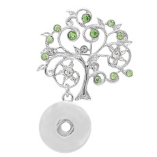 1 snaps button interchange brooch plating sliver with Rhinestones KC1203 snaps jewelry