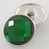 18MM complemento de aleación de cristal verde facetado KB2701-AN broches intercambiables