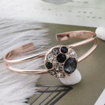 Design 20MM Plaqué or rose avec strass noir KC5641 s'encliquette bijoux