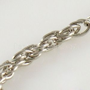80CM Metal Twisted Chain necklace