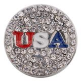 18MM USA snap Silver plated with  Rhinestones KC9643 interchangable snaps jewelry
