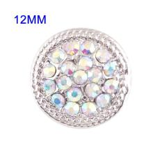 12mm Small size snaps with colorful Rhinestone for chunks jewelry