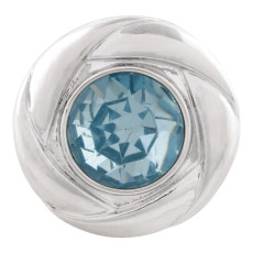 20MM snap Mar. birthstone light blue KC5678 interchangable snaps jewelry