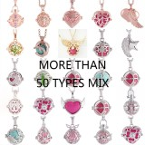 Mix 100pcs/set Angel Caller Ring bell ball locket Necklace with ball random color,  random more than 30 types