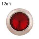 12MM bouton pression rond en or rose avec strass rouge KS9683-S s'encliquette bijoux