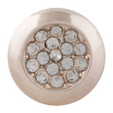 20MM  snap rose-gold Plated with rhinestone KC7632 snap jewelry