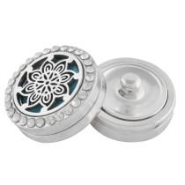 22mm fleur blanche en alliage Aromatherapy / Diffuseur de parfum d'huile essentielle Diffuseur de médaillon avec disques 1pc 15mm comme cadeau