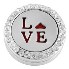 22mm alliage blanc Amour Aromatherapy / Diffuseur de parfum de parfum d'huile essentielle mousqueton avec disques 1pc 15mm comme cadeau