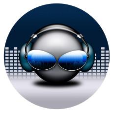 20MM Окрашенная музыка эмаль металлическая C5758 с принтом защелок ювелирных изделий
