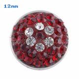 Broches de tamaño pequeño Trozos de estilo con diamantes de imitación rojos KS2714-S