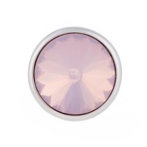 12MM Broche redondo plateado con diamantes de imitación KB5580-S broches de joyería