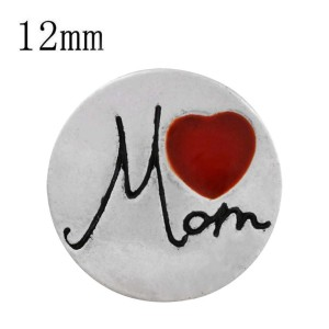 12MM mother snap silver plated with red enamel KS6309-S snaps jewelry