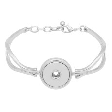 1 buttons snap sliver adjustable bracelet fit snaps jewelry KC0814