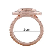 snaps Rose Gold Ring fit mini 12mm snap chunks size 2cm