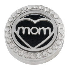 22mm weiße Legierung Mutter Aromatherapie / Ätherisches Öl Diffusor Parfüm Medaillon Snap mit 1pc 15mm Scheiben als Geschenk