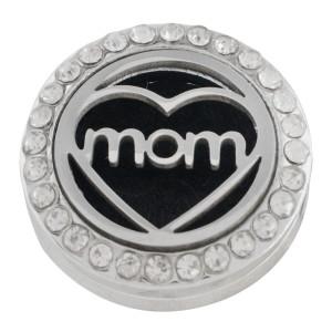 22mm aleación blanca mamá Aromaterapia / Difusor de aceites esenciales Perfume Locket snap con discos 1pc 15mm como regalo