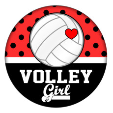 Ballon de volley féminin 20MM Métal en émail peint C5326 imprimé s'enclenche les bijoux