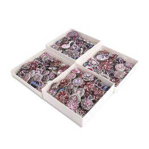 50pcs / lot Druckknöpfe 20mm mischen purpurrote, violette mixmix Farben