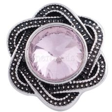 Защелки 20MM Старинное серебро с розовым горным хрусталем KC6239 защелкиваются ювелирные изделия