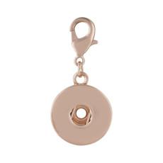 Fermoir mousqueton pendentif en or rose fit 20MM s'enclenche style bijoux KC0390