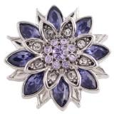 20MM дизайн оснастки серебро Антиквариат с фиолетовым стразами KC5444 оснастки ювелирные изделия