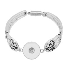 1 buttons snap sliver bracelet fit 20MM snaps jewelry KC0869