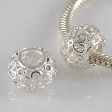 partner sterling silver simple beads