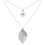 pendant Necklace with 80CM chain KC1302 fit 20MM chunks snaps jewelry