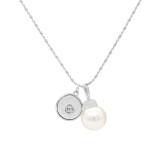 Collier pendentif acrylique en argent avec chaîne 80CM KC1098 compatible 20MM morceaux se brise bijoux