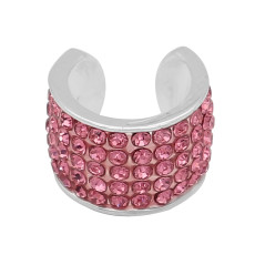 Pink rhinestone fittings for silver-plated belt of ultrasonic stethoscope