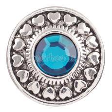 20MM snap Dec.birthstone cyan KC5044 interchangable snaps jewelry