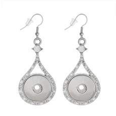 Snaps metal earring with Rhinestones KC0975 fit 18mm chunks snaps jewelry