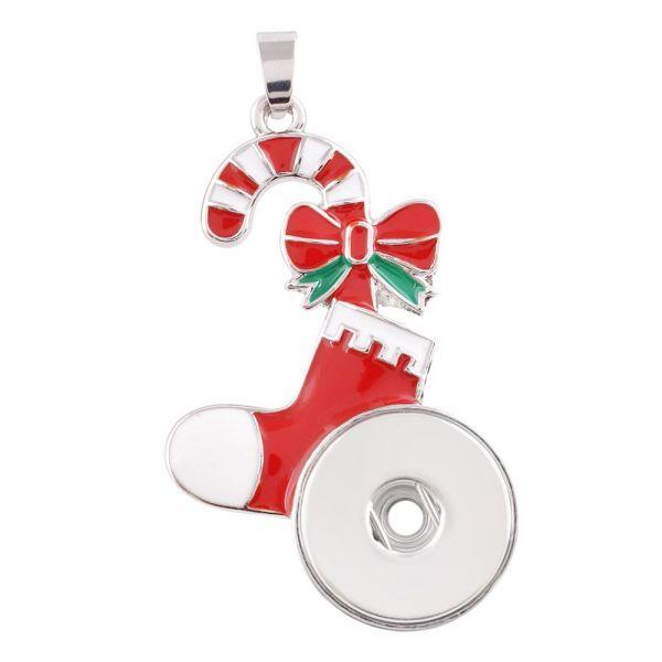 チェーンなしのネックレスのクリスマスペンダントKC0379フィットスナップスタイル18 / 20mmスナップジュエリー