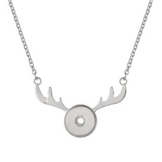 Christmas pendant sliver Necklace with 40CM chain KC1050 snaps jewelry