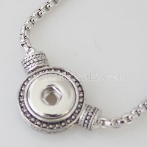 Pendant Necklace with 45CM chain Fit 12MM snaps