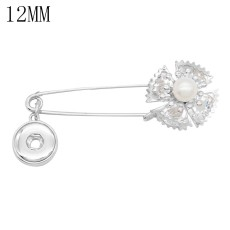 Beautifully decorated Brooch Pendant fit 12MM snaps style jewelry KS1276-S