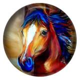 Лошадь 20MM Роспись эмалью по металлу C5552 с принтом защелок ювелирных изделий