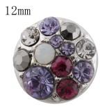 12mm design Маленький размер с фиолетовым горным хрусталем для украшения с кусочками